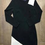 ชุดเดรสผ้าโพลีแขนยาว ซิปข้างมีเข็มขัด เล่นดีเทลต่อลายผ้าแบบทูโทน สวยทันสมัย มีซับในอย่างดี คัตติ้งสวยงามปราณีต