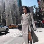 เดรสโค้ทปกสูทผ้าวูลสีเทาแขนยาวตัวชายกระโปรงระบายข้างสั้น งานแบรนด์ Balenciaca ดีเทลเนื้อผ้าวูลนำเข้าเกรดพรีเมี่ยม 100% เนื้อละเอียดน่าสัมผัสมีน้ำหนักสวมใส่เก็บทรงสวยอย่างดี