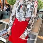เสื้อแฟชั่นเกาหลี เสื้อเชิ้ตผ้าซิลอย่างดี ลายน้องแมวน่ารักมากๆคะ