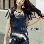 Lady Cindy Striped T-Shirt and Denim