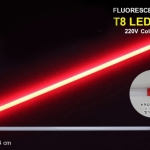 หลอดไฟนีออนสี กันน้ำ 100% ไฟงานวัด แสงสีแดง พร้อมสายไฟเสียบปลั๊กใช้งานได้เลย