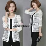 เสื้อแฟชั่นเกาหลีเสื้อคาดิแก้นลูกไม้เกาหลีสีขาวตัวนี้แนะนำเลยจร้างานสวยมาก