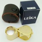 กล้องส่องพระ Leika 10x18mm ( สีทอง )