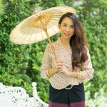 KJ004 เสื้อลายดอกผ้าเกาหลี