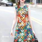 : เดรสแขนกุดลายดอกไม้ทั้งตัวเหมาะกับ summer สุดๆคะ งานมีซับในทั้งตัว ผ้าเนื้อดีสุดๆ งานตัดสวยมากๆคะ