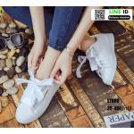 งานนำเข้า รองเท้าผ้าใบสไตล์เกาหลี ST888-WHI-Size35