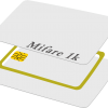 บัตรทาบ RFID พรีปริ๊นท์ บัตรมายแฟร์การ์ด 1 K คลื่น 13.56 MHz เริ่ม 60 ใบ ราคาถูก บัตรพลาสติกสีขาว ขนาดประมาณบัตรเอทีเอ็ม Mifare Card