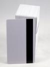 100 ใบ บัตรพลาสติก แถบแม่เหล็กเปล่าสีขาว พิมพ์เพิ่มเติมได้
