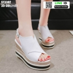 รองเท้าทรงเตารีดแบบรัดท้าย ST3302-WHI [สีขาว]