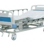เตียงผู้ป่วย 3 ไกร์ มือหมุน แบบ ABS รหัส MEA04