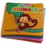 หนังสือผ้าเรียนรู้สัตว์น่ารัก Cute Animals ชุด 1