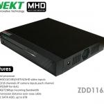 เครื่องบันทึก MHD 720P รองรับ 5 ระบบ HD TVI AHD CVI IP Analog 16 CH INNEKT รุ่น ZDD116