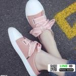 รองเท้าผ้าใบสวมเปิดท้าย ST55-PNK [สีชมพู]