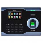 แสกนลายนิ้วมือ แสกนหน้า รองรับการใช้บัตร สำหรับลงเวลาทำงาน ยี่ห้อ ZKTECO รุ่น ZK-U160-C