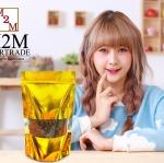 ขนาด 8 x 12 นิ้ว 20.5 x 30 ซม. สีทอง มีซิปล็อค เจาะหน้าต่างใส ก้นตั้งได้ ความหนา 220 ไมครอน Food Grade