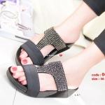 รองเท้าเพื่อสุขภาพสีดำ Soft Sandals (สีดำ )
