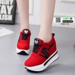 รองเท้าผ้าใบแพลตฟอร์มนำเข้า HWA-536-RED [สีแดง]