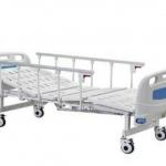 เตียงผู้ป่วย 2 ไกร์ มือหมุน แบบ ABS รหัส MEA03
