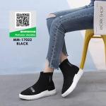 รองเท้าผ้าใบแฟชั่นสีดำ สไตล์แบรนด์ดัง Balenciaga (สีดำ )