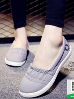 รองเท้าผ้าใบผู้หญิงสีเทา ลำลอง สไตล์เกาหลี (สีเทา )