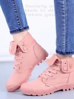 รองเท้าบูท หุ้มข้อ สไตล์PALLADIUM ใส่ได้หลายแบบ (สีชมพู )