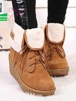 รองเท้าบูทหุ้มข้อสีดำ สำหรับหน้าหนาว (สีดำ )