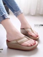 รองเท้าแตะเพื่อสุขภาพสีทอง แบบคีบ สไตล์ฟิทฟลอบ (สีทอง )