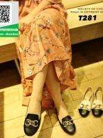 รองเท้าคัชชูหัวกลมสีดำ Loafer shoes (สีดำ )
