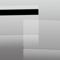 บัตรพลาสติก สีขาวแถบแม่เหล็ก