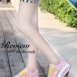 รองเท้าผ้าใบผู้หญิงสีเทา เสริมส้น ผ้าตาข่าย แบบเชือกผูก ระบายอากาศได้ดี สวมใส่สบายเท้า รับน้ำหนักได้ดี แฟชั่นเกาหลี แฟชั่นพร้อมส่ง