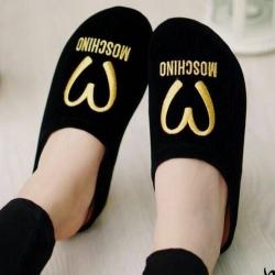รองเท้าแตะสีดำ รองเท้าเพื่อสุขภาพ งานดี หนังกำมะหยี่ ทรงปิดหัว ใส่ได้ทั้งในบ้านและนอกบ้าน