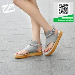 รองเท้าแตะรัดส้นสีเทา flip flops and female 2017 (สีเทา )