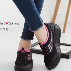 รองเท้าผ้าใบเพื่อสุขภาพ น้ำหนักเบา Supportเท้าได้ดีมาก STYLE SKECER (สีดำ )