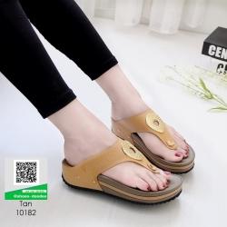 รองเท้าสุขภาพ พื้นนุ่ม 10182-แทน [สีแทน]