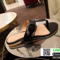 รองเท้าแตะหูหนีบหนีบ เท็กซ์เจอร์ลายเสือ G-1408-BLK [สีดำ]