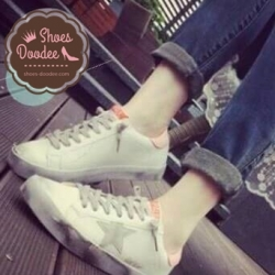 รองเท้าผ้าใบสีชมพู ลำลองนำเข้า style GGDB แบบที่กัปตันยูใส่ในDOS สุดclassic วัสดุทำจากหนัง นิ่ม ใส่สบาย+1