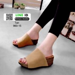 รองเท้าส้นเตารีดหน้าเต็ม 960-15-แทน [สีแทน]