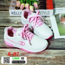 รองเท้าผ้าใบเพื่อสุขภาพนำเข้า สวยชิคสุดๆ K-B2-ชมพู [สีชมพู]