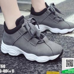 รองเท้าผ้าใบ งานนำเข้า100% ST60-GRA [สีเทา]