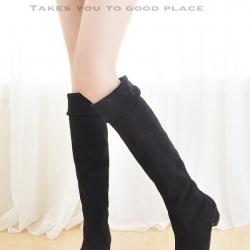 รองเท้าบูทยาว ใส่เที่ยวหน้าหนาว (สีดำ )