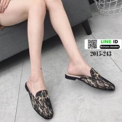 รองเท้าส้นเตี้ยนำเข้าน่ารักมากๆค่ะ 2015-243-ดำ [สีดำ]