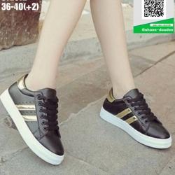 รองเท้าผ้าใบแฟชั่น ST2872-BLK [สีดำ]