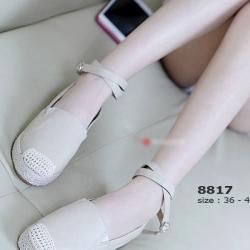 รองเท้าลำลอง สไตล์Espadrelles แนววินเทจ (สีแอปปริคอท )
