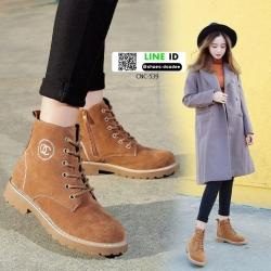 รองเท้าบูทมาร์ตินนำเข้า สไตล์เกาหลี CNC-539-BWN [สีน้ำตาล]