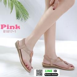 รองเท้าแตะรัดส้น สไตล์โบฮิเมียน B1817-1-PNK [สีชมพู]