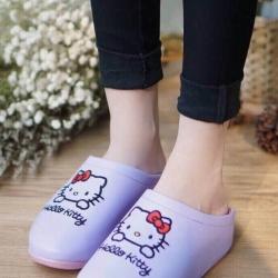 รองเท้าแตะเพื่อสุขภาพปักลายหัวใจ (สีม่วง)