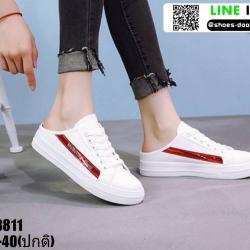 รองเท้าผ้าใบแฟชั่นเปิดท้าย งานนำเข้า100% ST8811-RED [สีแดง]