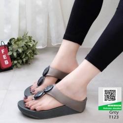 รองเท้าสุขภาพที่ดูไม่ธรรมดา T123-เทา [สีเทา]