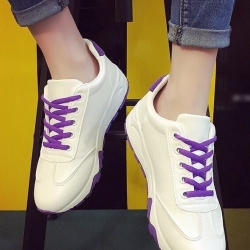 รองเท้าผ้าใบ สไตล์แบรนด์Onisuka (สีม่วง )