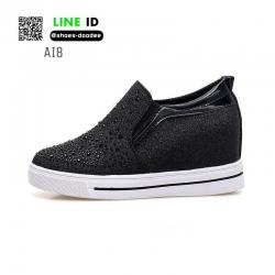 รองเท้าสวมส้นสูงหนัง pu AI8-BLK [สีดำ]